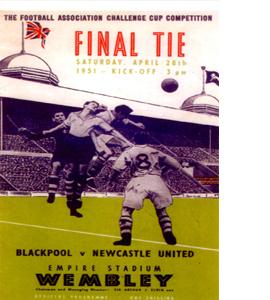 FA Cup 1951 Newcastle United (Postcard)