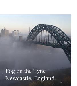 Fog On The Tyne Newcastle, England (Glass Coaster)