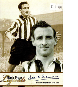 Frank Brennan Newcastle United Legends (Postcard)
