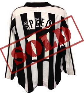 Gary Speed Newcastle United Home Shirt  (Match-Worn)