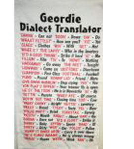 Geordie Dialect (Tea Towel)