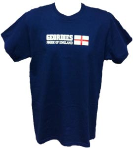 Geordies Pride Of England Blue (T-Shirt)