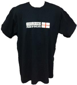 Geordies Pride Of England Black (T-Shirt)