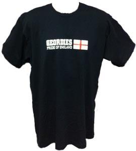 Geordies Pride Of England Black (T-Shirt)