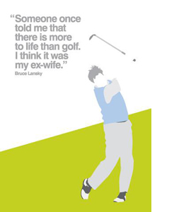 Golf (Greetings Card)