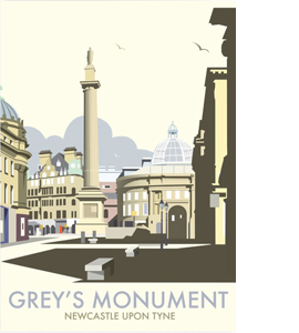 Grey's Monument (Greetings Card)
