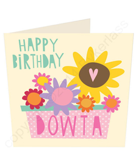 Happy Birthday Dowta Geordie Card