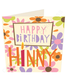 Happy Birthday Hinny Geordie Card