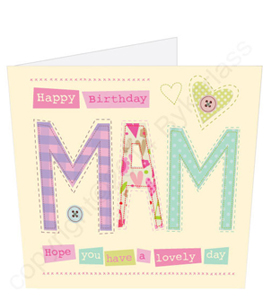 Happy Birthday Mam Card