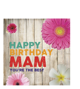 Happy Birthday Mam. You're The Best. (Greetings Card)