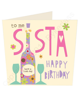 Happy Birthday Sista Geordie Card