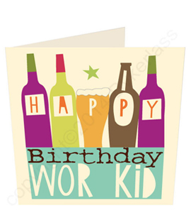Happy Birthday Wor Kid Geordie Card