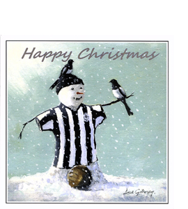 Happy Christmas Snowman (Greetings Card)