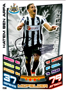 Hatem Ben Arfa Newcastle United Match Attax Trade Card (Signed)
