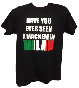 Have You Ever Seen A Mackem In Milan? Black  (T-Shirt)