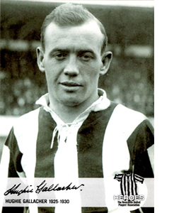 Hughie Gallacher Newcastle United Heroes (Postcard)
