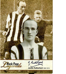 Jackie Rutherford Newcastle United Legends (Postcard)
