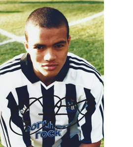 Jermaine Jenas Newcastle Photo (Signed)