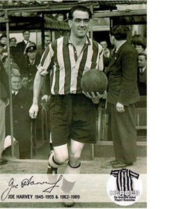 Joe Harvey Newcastle United Heroes (postcard)