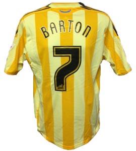 Joey Barton Newcastle United Away Shirt 2009/10 (Match-Worn)