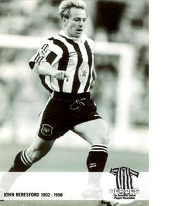 John Beresford Newcastle United Heroes (Postcard)