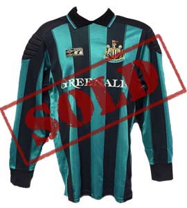 John Burridge Newcastle United Goalkeepers Shirt (Match Worn)
