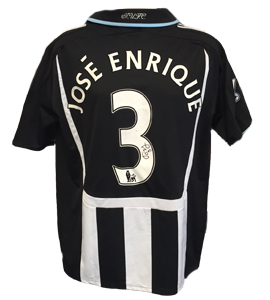 Jose Enrique Newcastle United Shirt 2008/09 (Match-Worn)