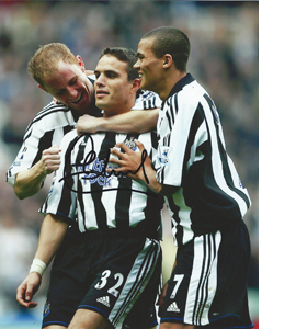 Laurent Robert Newcastle Photo (Signed)