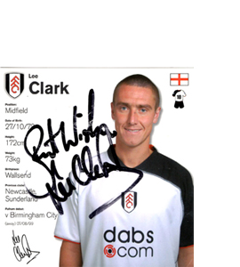Lee Clark Promotion/Sponsorship Trade Card (Signed)