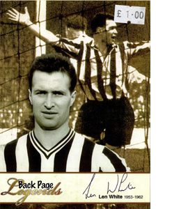 Len White Newcastle United Legends (Postcard)