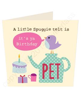 Little Spuggie Telt is its ya Birthday