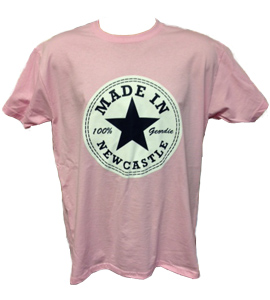 Made In Newcastle 100% Geordie - Pink (T-Shirt)