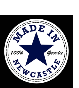 Made In Newcastle 100% Geordie (Glass Coaster)