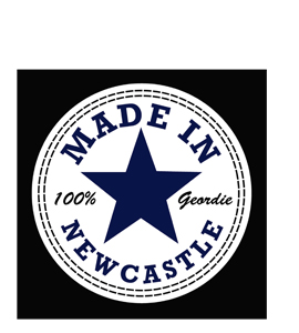 Made In Newcastle Converse (Greetings Card)