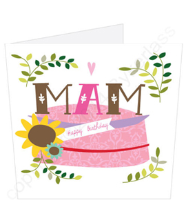 Mam Birthday Cake Card