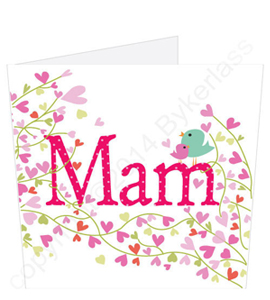 Mam Flowers Birdie Mothers Day Card