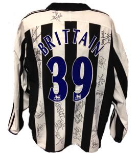 Martin Brittain Newcastle United Shirt 2004/05 (Match-Worn)