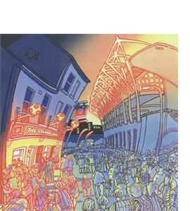 Match Night by John Coatsworth (Greeting Card)