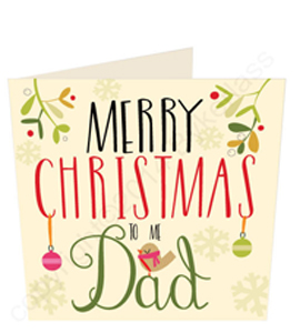Merry Christmas to me Dad - Large Size (Greeting Card)