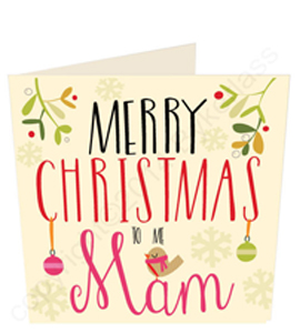 Merry Christmas Mam - Large Size (Greeting Card)