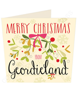 Merry Christmas From Geordieland (Greeting Card)