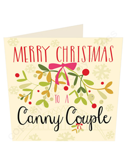 Merry Christmas to a Canny Couple (Greeting Card)
