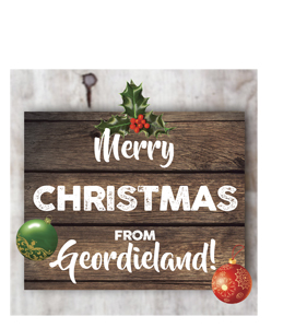 Merry Christmas From Geordieland (Greetings Card)