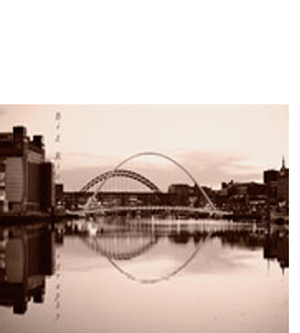 Millennium Bridge/Tyne Bridge (Greeting Card)