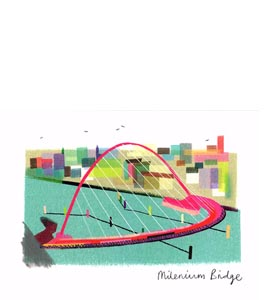 Millennium Bridge (Greetings Card)