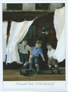 Mind The Washing by Dick Gilhespy (Greeting Card)