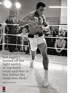 Muhammad Ali Shadow Boxing (Greeting Card)