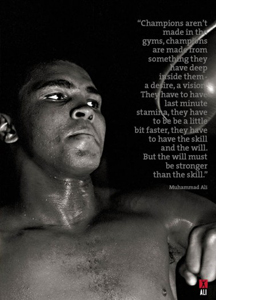 Muhammad Ali Speedball Training (Greeting Card)