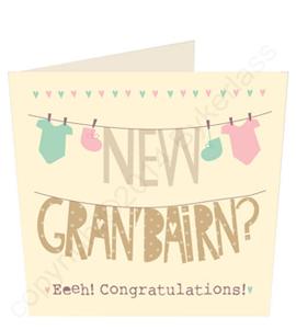 New Gran Bairn Congratulations Geordie Card