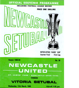 Newcasle United Fairs Cup Quater Final 1st Leg (Postcard)
